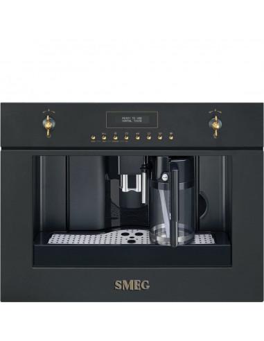 Ekspres do kawy Smeg Antracyt (pokrętła z mosiądzu i złote) CMS8451A