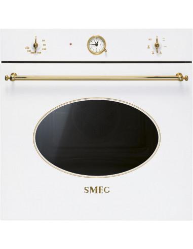 Piekarnik elektryczny biały (wykończenie w kolorze złotym) Smeg SF800B