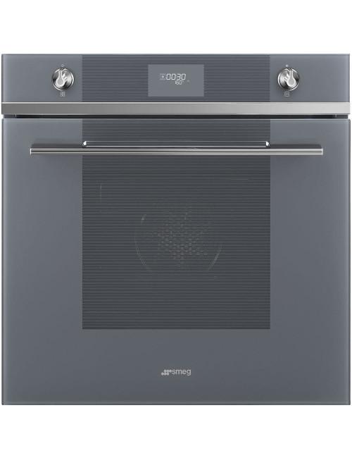 Piekarnik elektryczny z czyszczeniem pirolitycznym 60 cm Smeg Srebrne lustro SFP6101TVS1