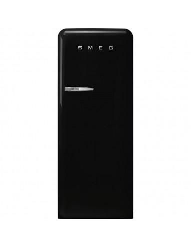 Chłodziarko - zamrażarka stylizowana na lata 50 Czarny (chromowany uchwyt) Smeg FAB28RBL5